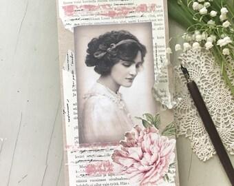 Vintage Art Journal | Mixed Media Journal | Handmade Notebook | Notebook Insert | Travellers Notebook Insert |