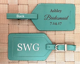 Personalized baggage tags, Destination wedding, luggage tag, luggage tags personalized, custom luggage tags, passports Turquoise*