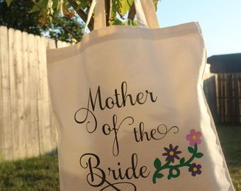 Canvas Tote Bag/Mother of the Bride/Personalized