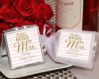 24 PCS Miss to Mrs Compact mirror favors - Wedding, Bridal Shower 7007A-506