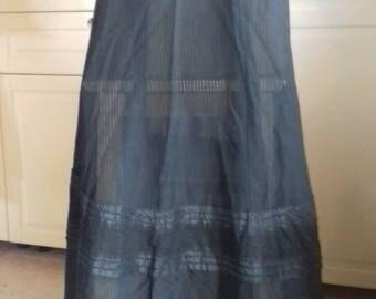 Antique Edwardian Victorian Fine  Silk Skirt