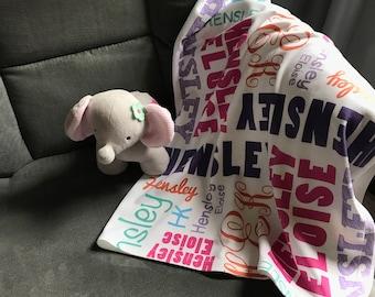 Personalized Baby Blanket/Monogrammed Baby Blanket/Name Blanket/Swaddle/Receiving Blanket/Baby Shower Gift/Photo Prop/Baby Blanket/Custom
