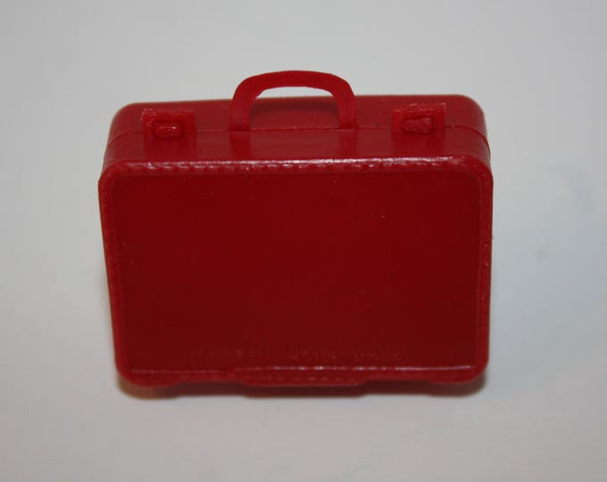 Vintage Red Luggage Accessory for Barbie Skipper Tammy Dolls