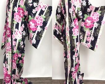 "Japanese K81905 Elegant Brand New ""Yukata"" Tall and Big Size"