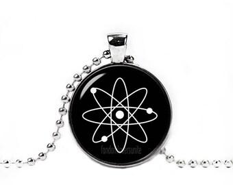 Atom Necklace Atom Pendant Atom Chain Science Jewelry Geeky Necklace Geeky Jewelry