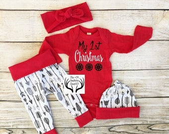 25% OFF FLASH SALE, Baby Christmas Outfit, Unisex, My 1st Christmas,Babies First Christmas Outfit,Girl Coming home outfit,Boy Coming Home Ou