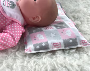 Momma'sJoy Natural Baby Pillow  Mustard Seeds Filing   Handmade in USA  Prevents Flat Head  Pillowcase Included  Baby Shower Gift