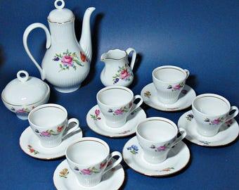 Vintage JLMenau Tea Set with Floral Pattern