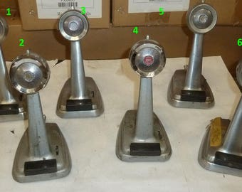 Vintage Microphones Radio/School/Television Stations Nice Rare ******1950's-1960's**** Art Deco