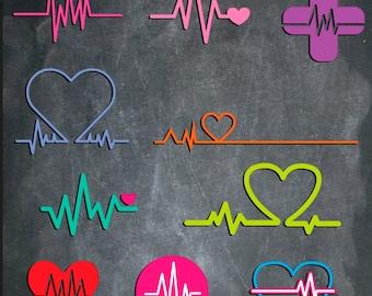 EKG Decals Nurse, Nurse Tech, EKG Tech...