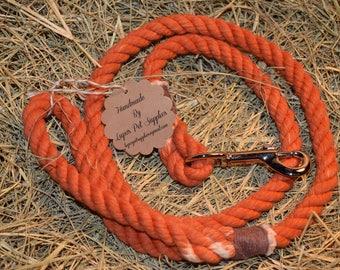 Solid Pumpkin Rope Leash
