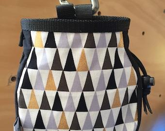 Gold and Black Mountain Print Chalk Bag