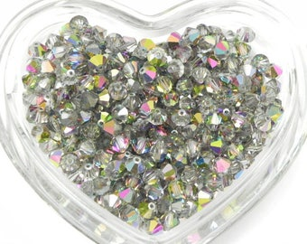 Swarovski 364 Vitrail Medium 6mm Vintage Crystal Bicone Beads (12 pieces)