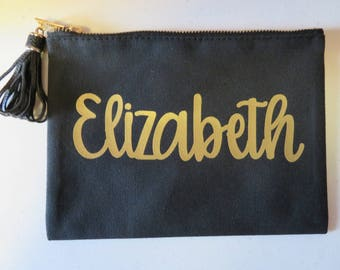 Personalized Cosmetic Bag w/Tassel