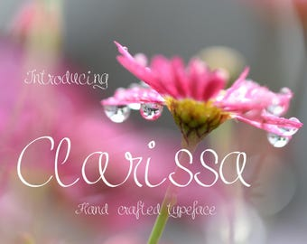 Clarissa font, hand written font, script font, hand drawn typeface, hand sketched font, Commercial Download, TTF, OTF