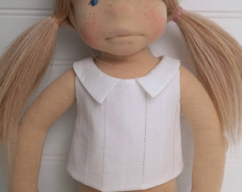 White DOLL SHIRT with collar