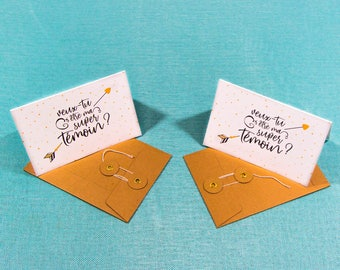 Will you be my best man? 2 cards + 2 envelopes