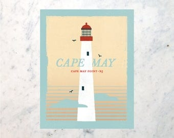 Cape May Point Lighthouse Print -11x14