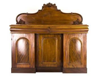 Antique Sideboard | Victorian Mahogany Buffet | Vintage Chiffonier | Scotland 1870 | B764