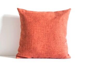 Orange Throw Pillow, Orange Pillow Cover Decorative Pillow Cover, Cushion Cover