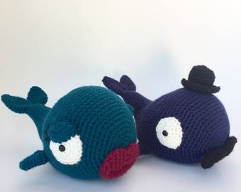 Crochet amigurumi pattern: Mister and Misses Whale