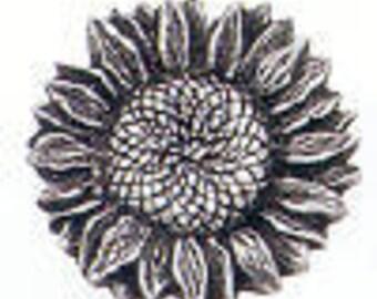 SUNFLOWER pewter Danforth shank button
