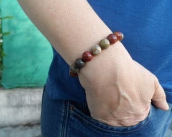 Genuine Picasso Jasper stone bracelet