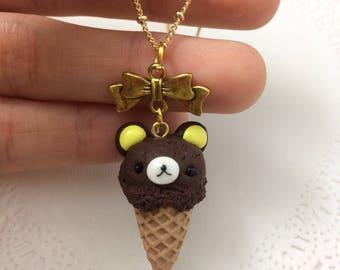 Rilakkuma Icecream Cone Pendant Necklace