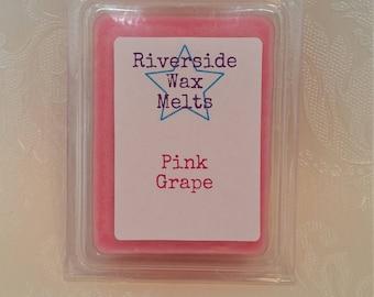 Pink grape wax clamshell. Wax clamshell, pink grape wax