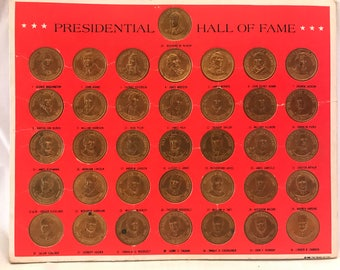 Presidential Hall of Fame Bronze Coin Collection
