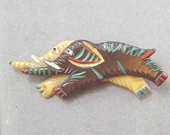 Vintage Elephant Brooch Pin
