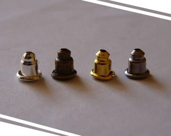 Earring Backs, Metal Earring Backs, Earring Stoppers, Metal Earring Posts, Small Metal Earring Nuts, Gold Silver Bronze Black Small Ear Nuts