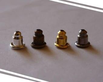 Earring Backs, Metal Earring Backs, Earring Stoppers, Metal Earring Posts, Small Metal Earring Nuts, Gold Silver Bronze Black Small Ear Nuts
