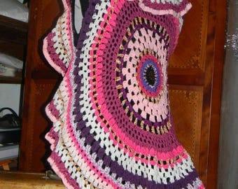 """How """"mandala"""" fully crocheted vest"""