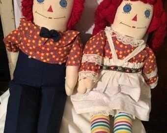 Raggety Ann & Andy Dolls