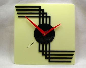 Charmant Art Deco Wall Clock, Deco Clock, Wall Clock, 30s Clock, Made In