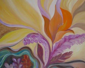 Dream flower - original oil on canvas painting