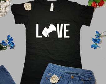 Horse Love, horses shirt, Horse rider gift, Women's t-shirt, Equestrian life, Equitation