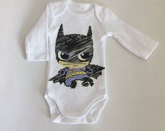 Long sleeve white Bodysuit theme superhero different sizes available.