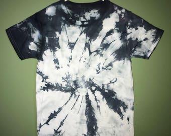 Black and White Tie Dye T