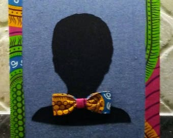 African Abstract Print Boy's 8x10 Fabric Art