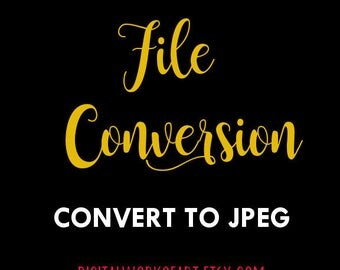 Convert File to JPEG - Please Contact Seller Before Purchasing and Adding This Listing - NO Refunds