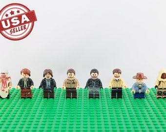The Walking Dead Custom 8 pc minifigure set (Lego Compatible) AMC Carl Rick Grimes Negan Daryl Dixon Carol Morgan Aaron Image Christmas Gift