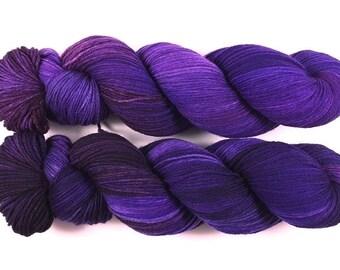 Nocturne - Merino extrafine/Polyamid superwash High Twist, handgefärbt, superweich!