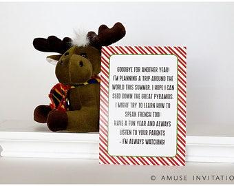 Elf Goodbye Letter, Elf Goodbye Note, Christmas Elf Accessories, Santa's Elf Prop, Elf Printable, Christmas Elf Ideas, Easy Elf Ideas