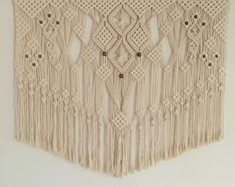 "Large Macrame Wall Hanging ""Polluck Pines"""