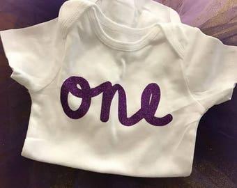 First Birthday shirt/onesie and tutu