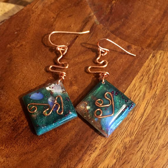 Wood Elf Magic Orgonite® Earrings-White Magic- Spiritual Protection Orgonite® Earrings- Emerald Tablets- Fairy Magic Orgone Energy