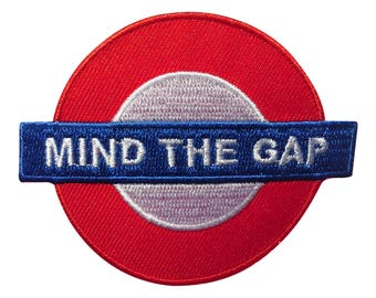 Patch / patch - mind the gap underground London - Red - 7, 5 x 6, 1 cm - patch application applications to the iron application patches patch