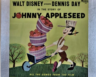 SLIDE-OUT Record Album Frame Display with Johnny Appleseed